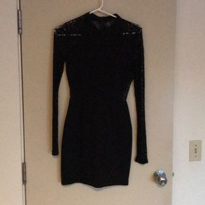 ASTR black long sleeved lace dress